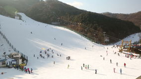 Corea Ski Slope almacen de video