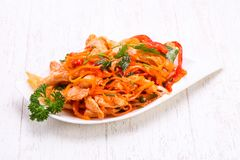 Corean marchewka z mięsem obraz stock