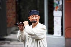 Coreano del musicista Fotografia Stock Libera da Diritti
