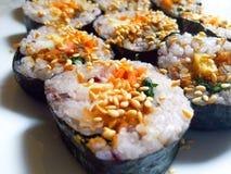 Coreano delicioso Kimbap imagem de stock royalty free