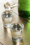 Coreano destilado claro alcoólico Soju imagem de stock