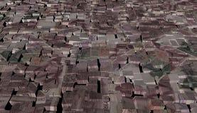Coreano ganado en fondo de los bloques Fotografía de archivo libre de regalías