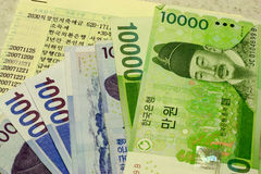 Coreano ganhado Imagens de Stock