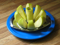 Cored Apple on a Plate Royalty Free Stock Photo
