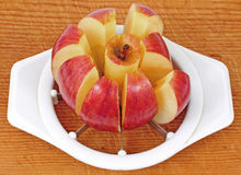 A Cored and Sliced Apple Royalty Free Stock Photo