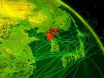 Coreia do Norte no globo digital ilustração do vetor