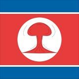 Coreia do Norte nuclear ilustração royalty free