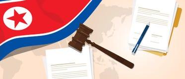 Coreia do Norte ou conceito legal da experimentação da legislação de justiça do julgamento da constituição Democrática da lei dos ilustração royalty free