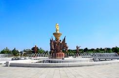 COREIA DO NORTE, PYONGYANG - 27 DE SETEMBRO DE 2017: Memorial P de Kumsusan Fotografia de Stock Royalty Free