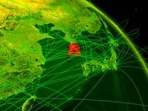 Coreia do Sul no globo digital ilustração do vetor