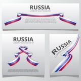 套与俄国旗子的横幅 俄罗斯的独立日 6月12日 也corel凹道例证向量 库存例证