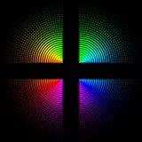 Κυκλικές χρωματισμένες σφαίρες σε ένα μαύρο υπόβαθρο ελεύθερη απεικόνιση δικαιώματος