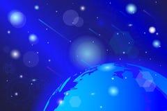 传染媒介图画,宇宙,抽象五颜六色的背景 库存例证
