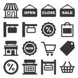 Шильдик магазина и набор значков покупок r бесплатная иллюстрация