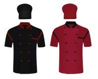 Αρχιμάγειρας ομοιόμορφος πουκάμισο και καπέλο διανυσματική απεικόνιση