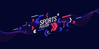 Современный покрашенный плакат для спорт Иллюстрация соответствующая для дизайна бесплатная иллюстрация