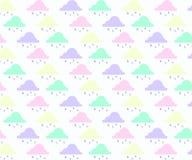 Абстрактная предпосылка с облаком, небом и звездой в пастельном цвете бесплатная иллюстрация