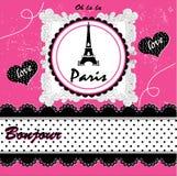 Κάρτα του Παρισιού επίσης corel σύρετε το διάνυσμα απεικόνισης Στοκ εικόνα με δικαίωμα ελεύθερης χρήσης