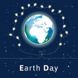 также вектор иллюстрации притяжки corel Плакат дня земли Стоковые Фото