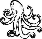 章鱼 也corel凹道例证向量 库存图片