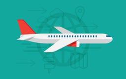 飞行飞机标志 也corel凹道例证向量 免版税库存图片