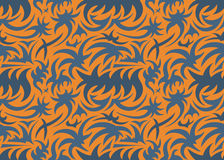 抽象无缝的有机样式 也corel凹道例证向量 库存图片