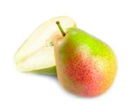 Corella pear cut in half Stock Image