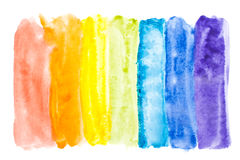 Cores abstratas do arco-íris da aguarela Fotografia de Stock Royalty Free