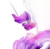 Cores acrílicas na água Imagens de Stock Royalty Free