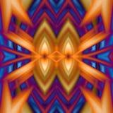 Cores alaranjadas e azuis da arte digital do fundo ilustração royalty free