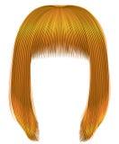 cores amarelas brilhantes dos cabelos na moda franja do kare Forma Fotos de Stock Royalty Free
