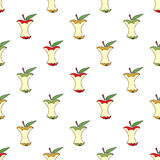 The cores of apples seamless pattern background. Stock Images