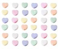 Cores Assorted de corações em branco dos doces Imagem de Stock Royalty Free
