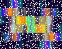 Cores, bolhas, luzes fosforescentes dos contrastes, textura, fundo abstrato ilustração royalty free