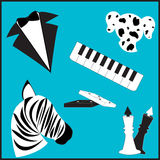 Cores brancas pretas ilustração royalty free