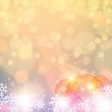 Cores claras do inverno abstrato Fotos de Stock Royalty Free