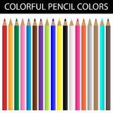 Cores coloridas do lápis Foto de Stock