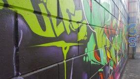 Cores coloridas dos grafittis Imagem de Stock