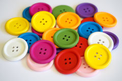 Cores corajosas dos botões Fotografia de Stock
