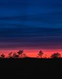 Cores crepusculares bonitas Foto de Stock Royalty Free