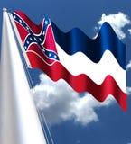 Cores da bandeira de Mississippi - simbolismo do significado da bandeira do estado de Mississippi ilustração do vetor