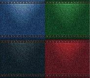 Cores da coleção das calças de brim Fotografia de Stock Royalty Free