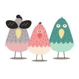 cores da galinha três Foto de Stock Royalty Free