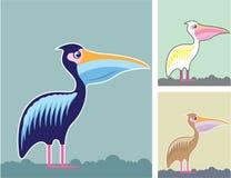Cores da ilustração do vetor do pelicano Fotografia de Stock Royalty Free