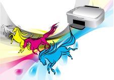 Cores da impressora ilustração royalty free