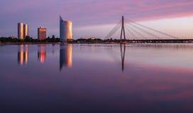 Cores da manhã para Riga novo Fotografia de Stock