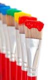 Cores da pintura do arco-íris Fotografia de Stock Royalty Free