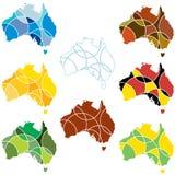 Cores de Austrália ilustração do vetor