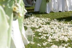 Cores de feliz Detalhes do lugar do casamento fotografia de stock