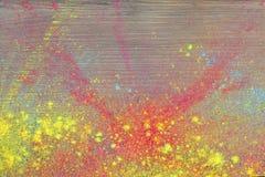 Cores de Holi na madeira Imagens de Stock Royalty Free